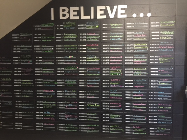 "Sixth Graders Create ""I Believe"" Wall"